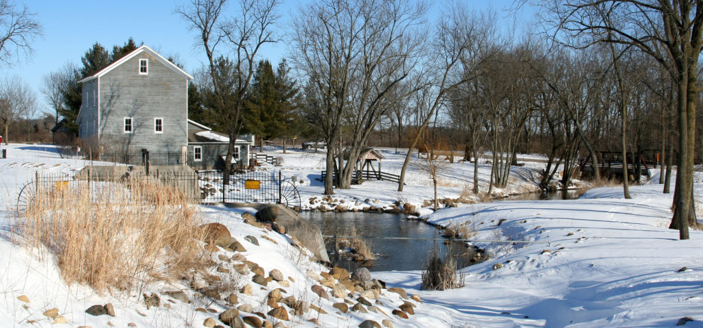 Beckman Mill in Winter