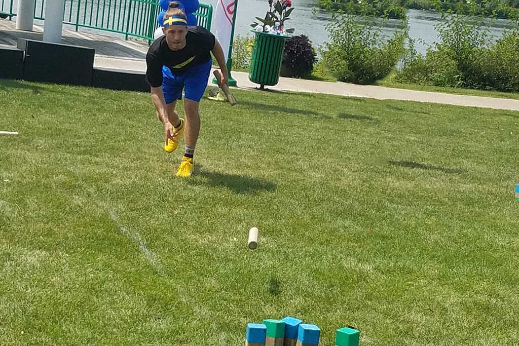 Kubb player at U.S. Kubb Open