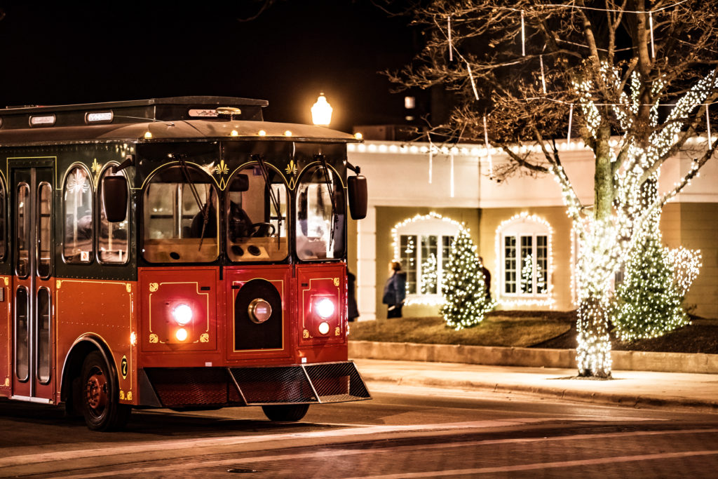 Trolley at Holidazzle