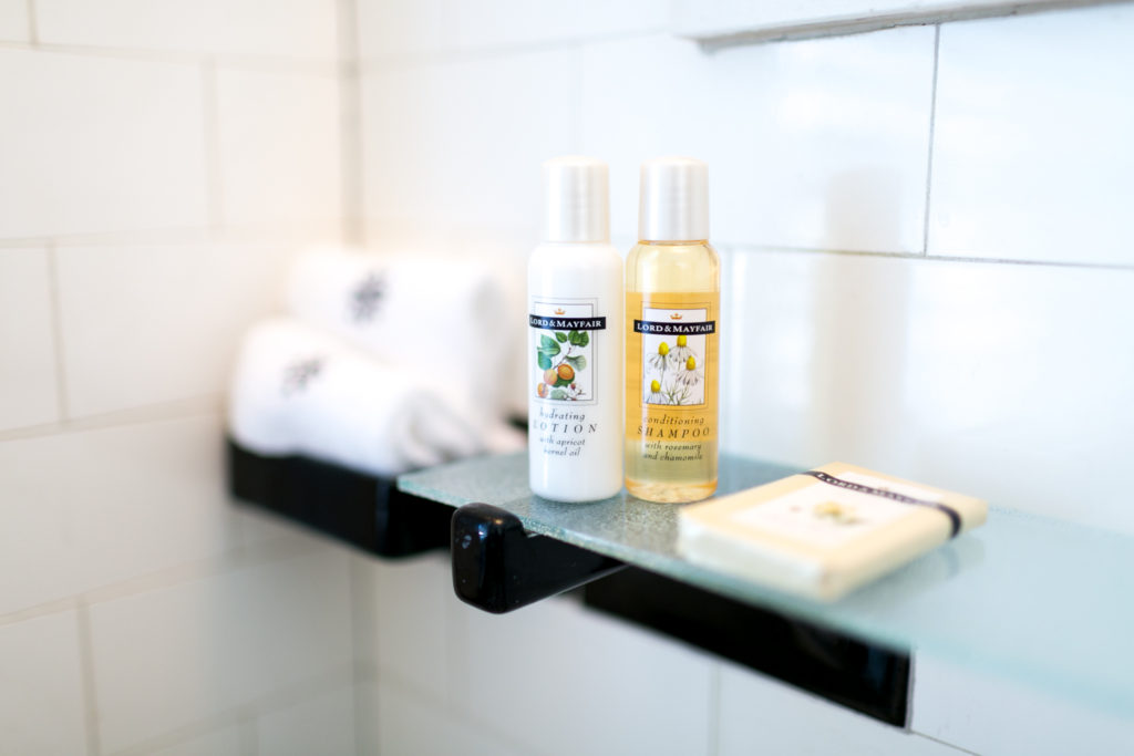 Luxury bath products at 1810 Emerson House