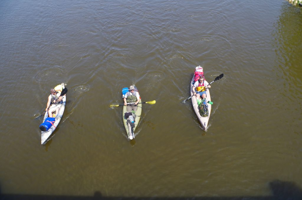 Paddling and kayaking in Beloit at Schollmeyer Ppark
