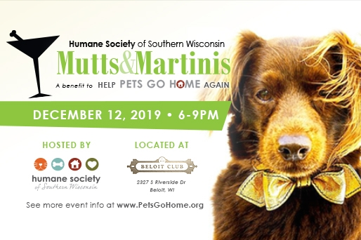 Mutts Martinis To Benefit The Humane Society Visit Beloit