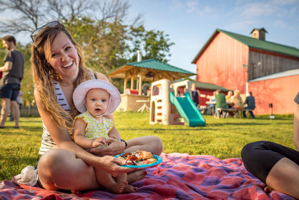 outdoor dining at double b farm and country cafe