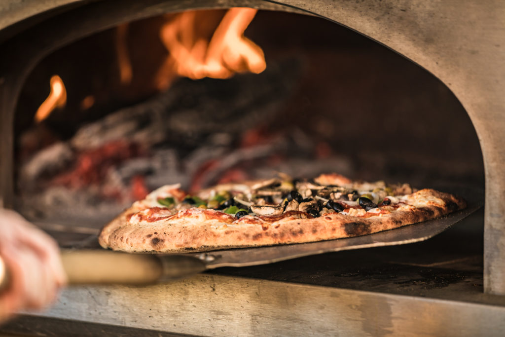 Wood fired pizza at Double B Farm