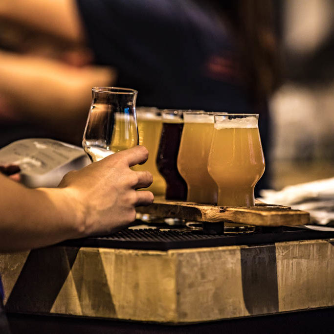 The beer trail is one of the things to do in winter