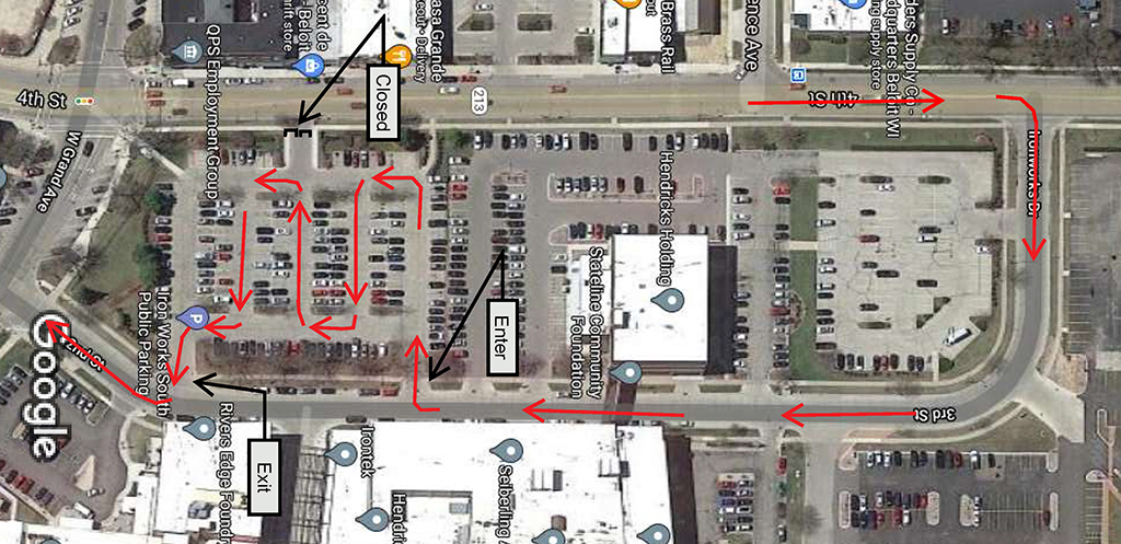 Map for holiday parade in beloit