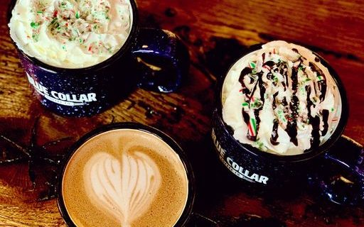 holiday specials at blue collar coffee