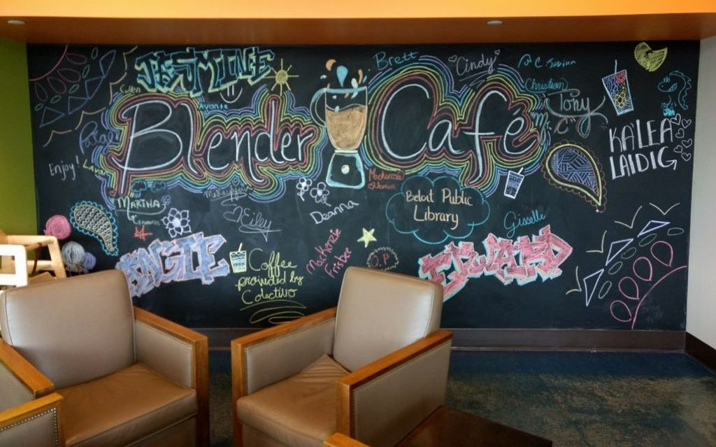 blender cafe is on the cafe trail in beloit
