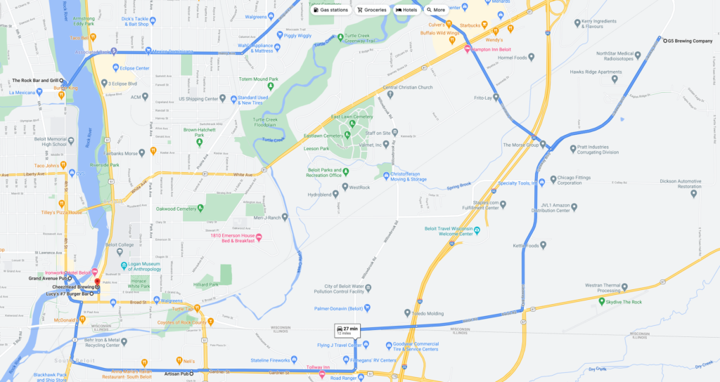 Beer Trail Map