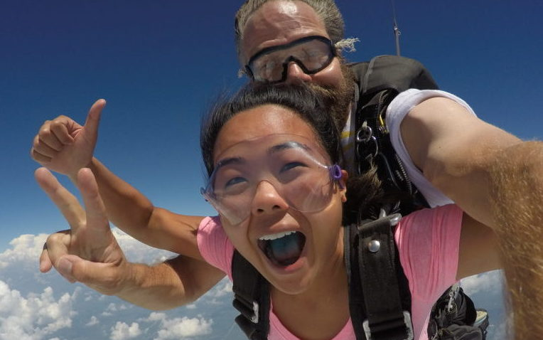 Skydive the Rock